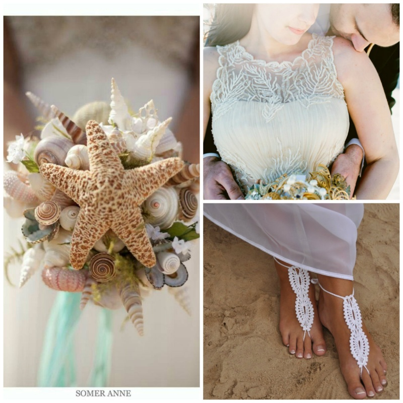 collageBeach5 7 Tips On Choosing Beach Wedding Accessories