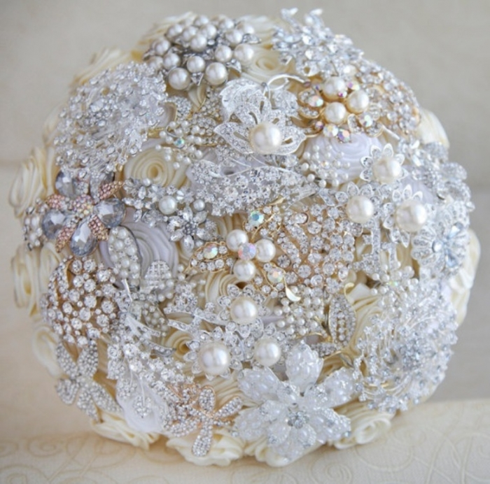 gold-wedding-broochesbrooch-bouquet-ivory-white-silver-and-gold-wedding-wedding-i-sq8drt3b How to Design Your Brooch Bouquet