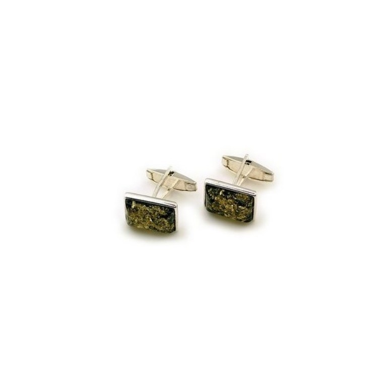 green-amber-cufflinks All What You Need to Know about Green Amber Jewelry