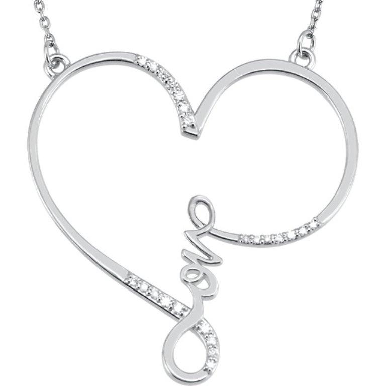 heart-diamond-love-letter-necklace-1 Why Do Women Love Heart Jewelry?