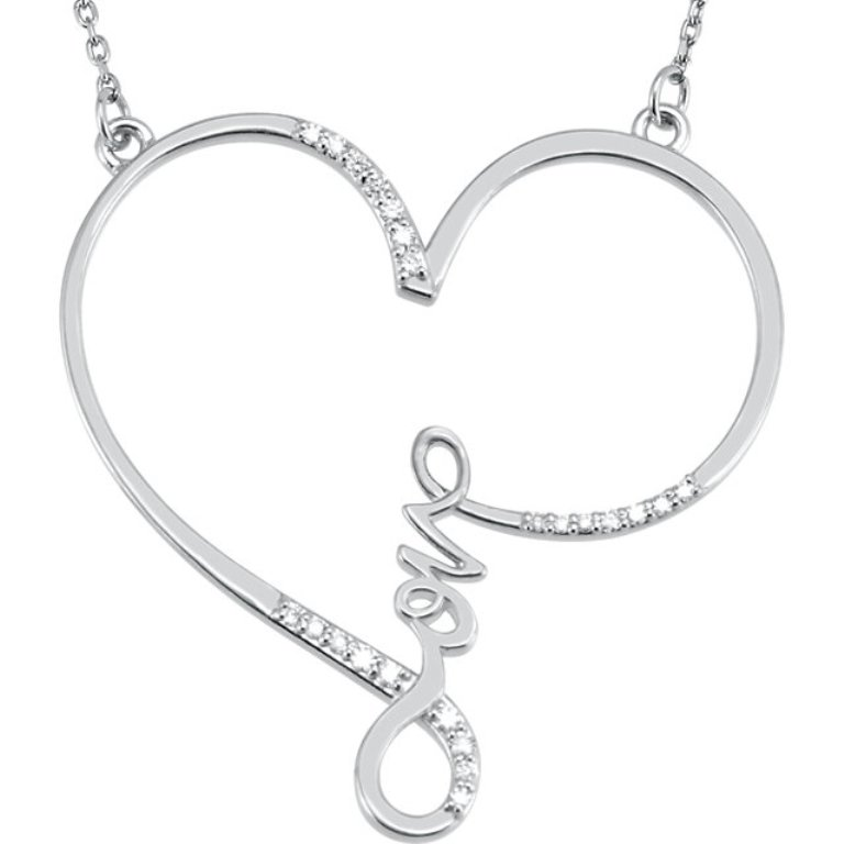 heart-diamond-love-letter-necklace-1 Why Do Women Love Heart Jewelry?