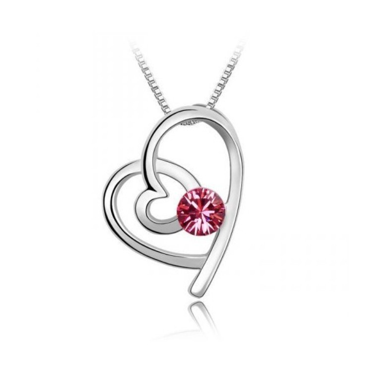 knotted-heart-necklace-made-with-swarovski-elements Why Do Women Love Heart Jewelry?