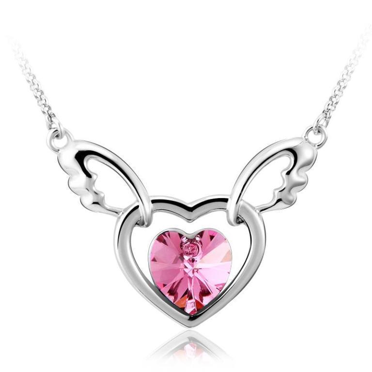 li_38905RUY_indiebazaar_jewellerysets_SwarovskiElementsWingedHeartNecklace_saashijewels Why Do Women Love Heart Jewelry?