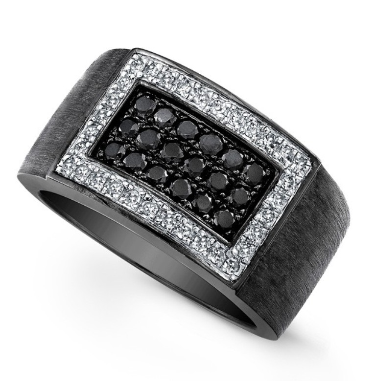 men-black-diamond-wedding-band Top 25 Rare Black Diamonds for Him & Her