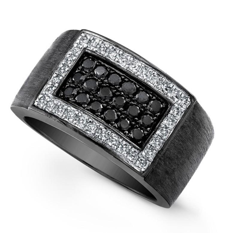 men-black-diamond-wedding-band Top 25 Rare Black Diamonds for Him & Her