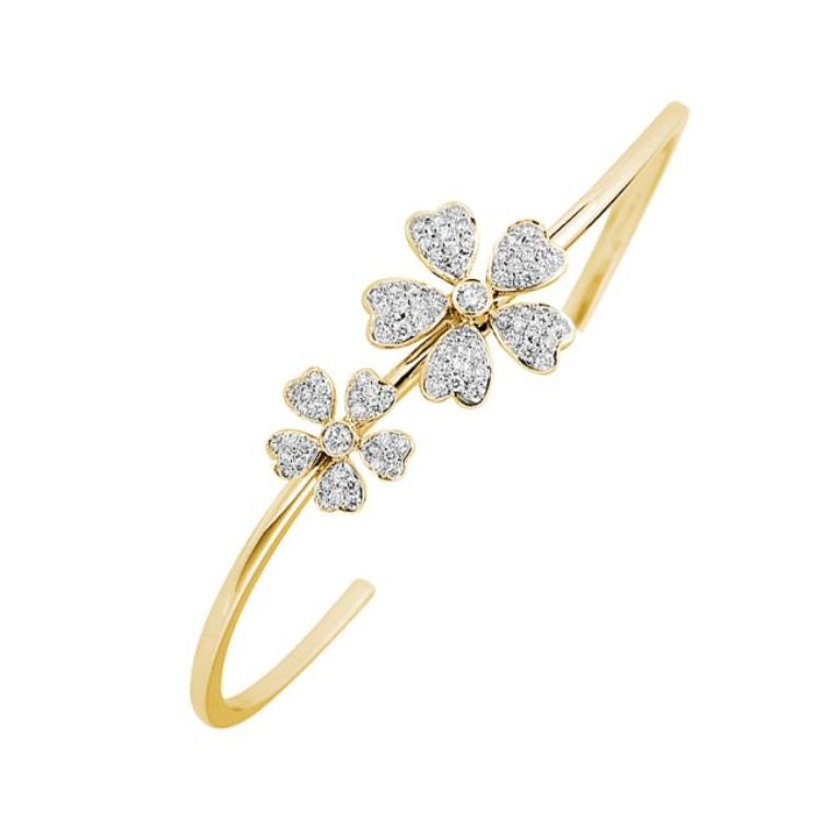 microset-flower-shaped-diamond-bangle How Do You Know Your Bracelet Size?