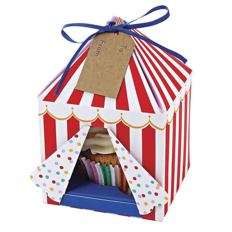 original_set-of-four-cup-cake-circus-tent-boxes 25 Cake Boxes for Different Special Events