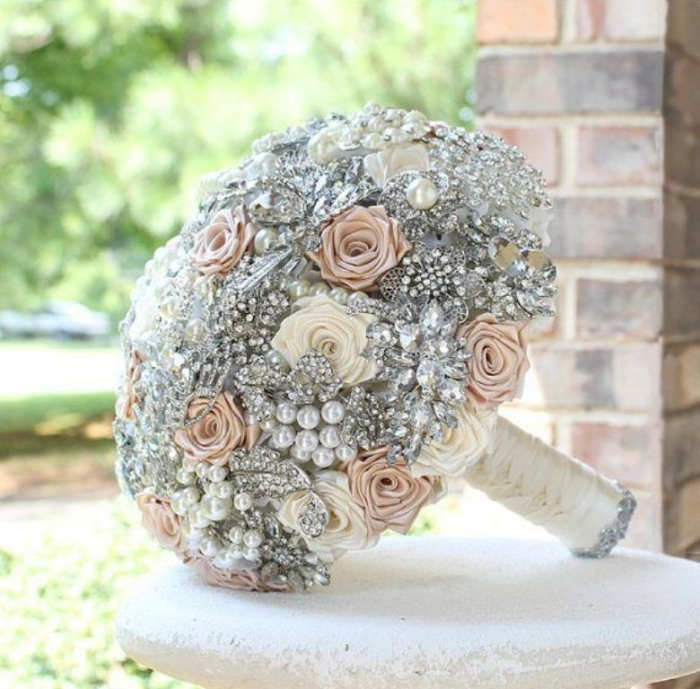 pin-by-white-satin-wedding-show-on-wedding-bouquets-brooch-pinterest How to Design Your Brooch Bouquet