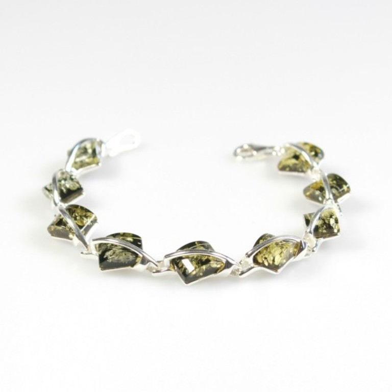 silver-green-amber-bracelet All What You Need to Know about Green Amber Jewelry
