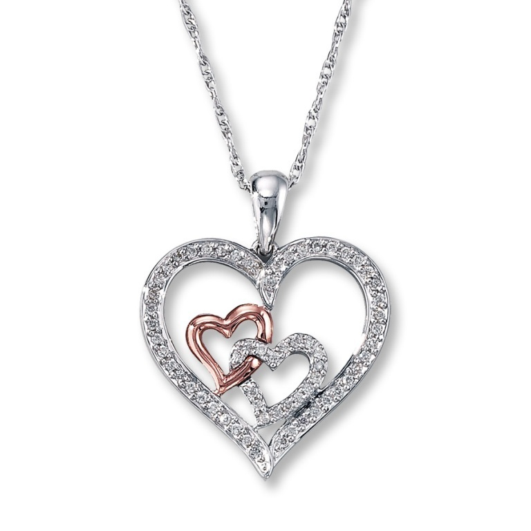 silver-heart-necklace-with-diamonds-9clobtso Why Do Women Love Heart Jewelry?