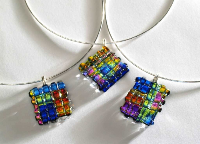 three-woven-on-white 25 Pieces of Elegant & Fashionable Glass Jewelry