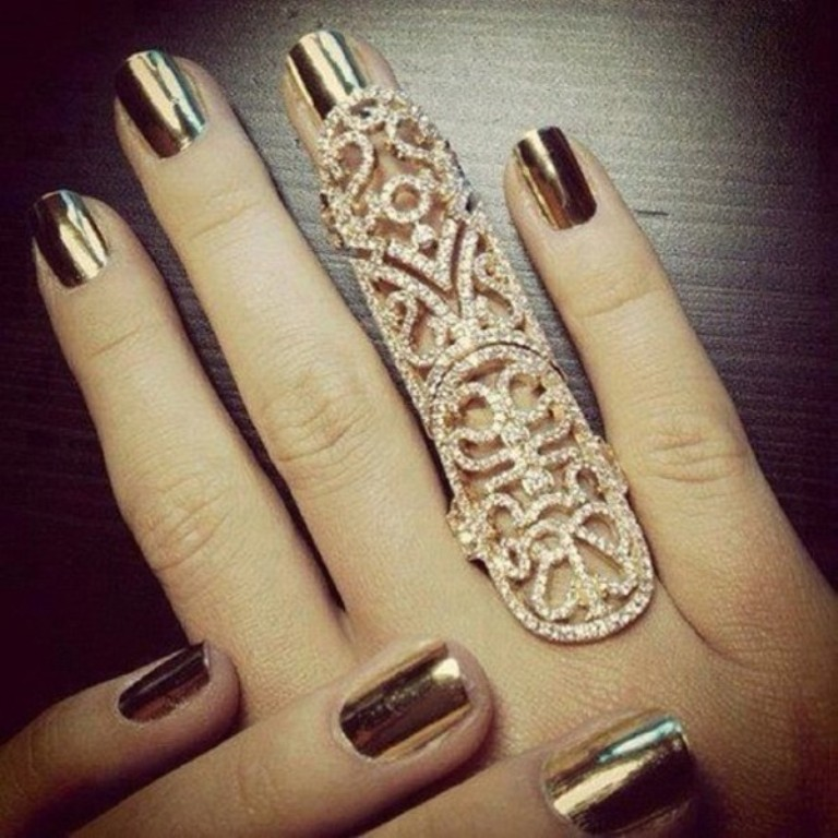 """y4oza7-l 25 Awesome & Affordable Full Finger Rings """"Armor Rings"""""""