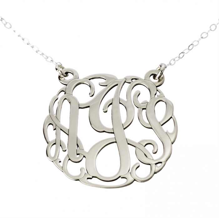 0000854_three-initials-monogram-charm-necklace Express Your Love by Presenting Monogram Jewelry