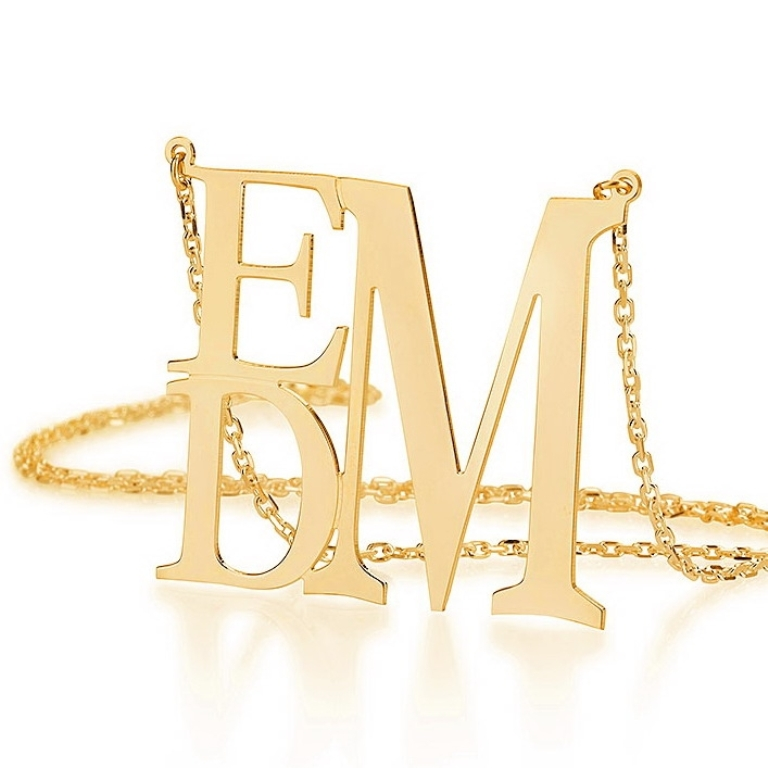 013141gp Express Your Love by Presenting Monogram Jewelry