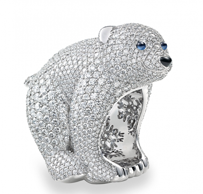 1082-stellar-jewelry-collection-polar-bear-ring-the-wrist-watcher 69 Dress Jewelry Pieces in the Shape of Your Favorite Animal