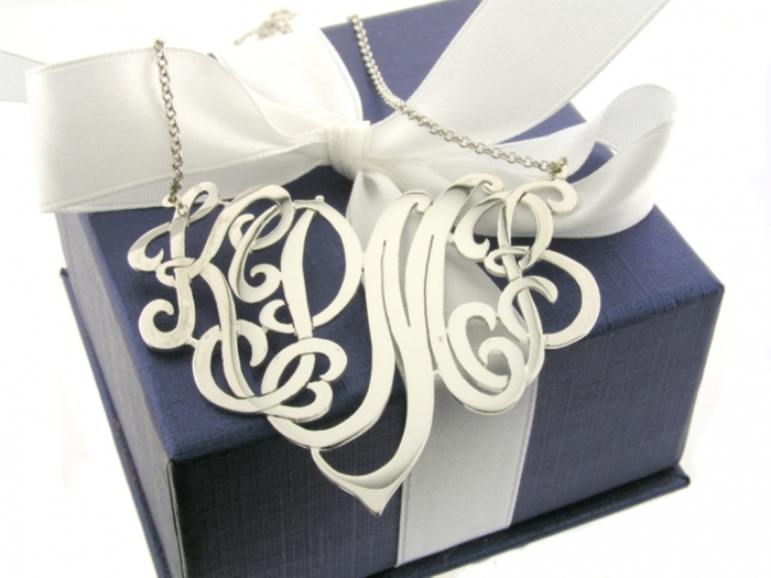 56 Express Your Love by Presenting Monogram Jewelry