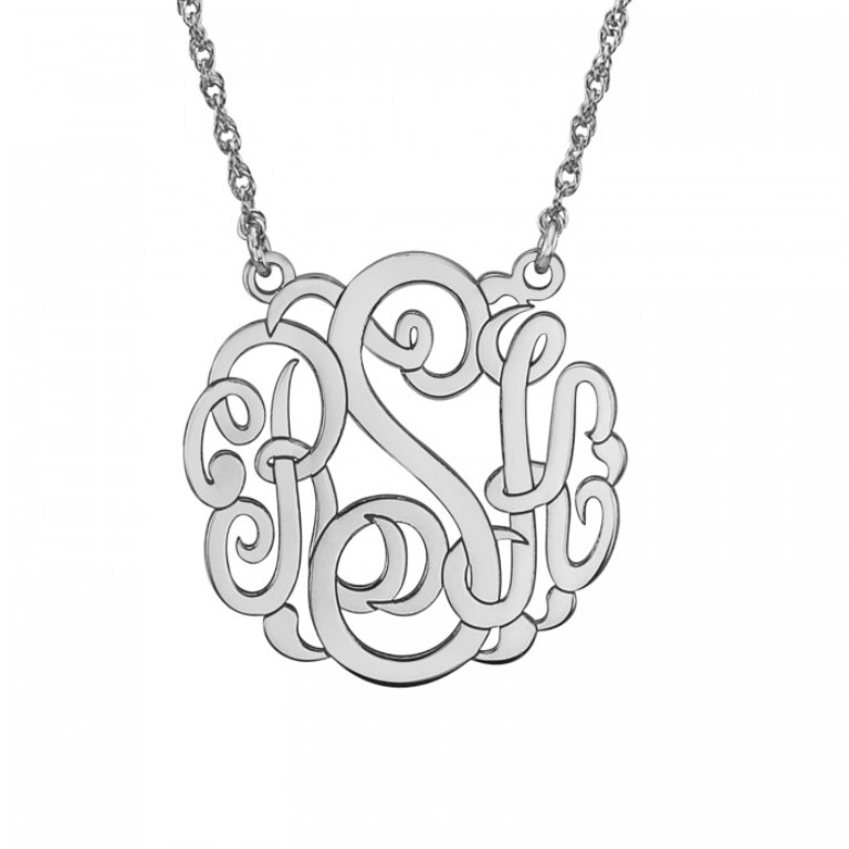 87806nw Express Your Love by Presenting Monogram Jewelry