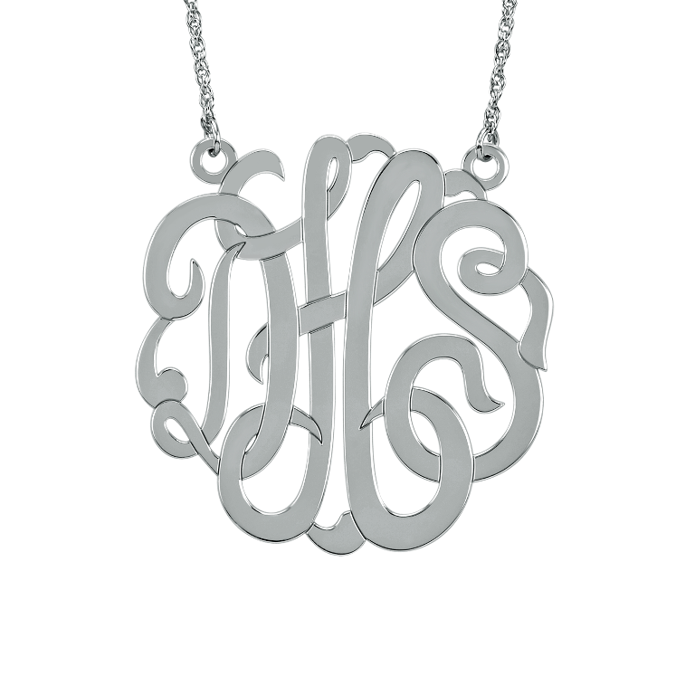 87807N09W Express Your Love by Presenting Monogram Jewelry