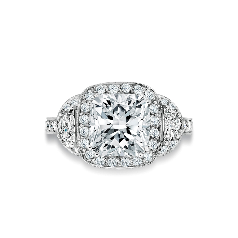 Art-Deco-Cushion-Shape-Cluster-Ring-image-1-fb0d6803-08ed-47e1-92a7-25af295d17a8 Cluster Engagement Rings for Those who Are on a Budget