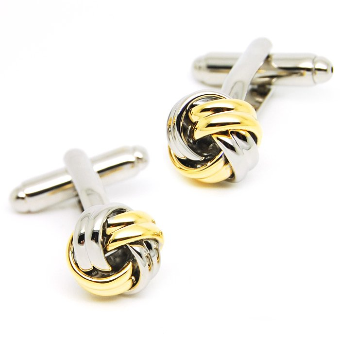 BAC-614-Classic-Gold-font-b-Knot-b-font-cufflinks-New-Style-Cufflinks-Men-s-Jewelry Cufflinks: The Most Favorite Men Jewelry