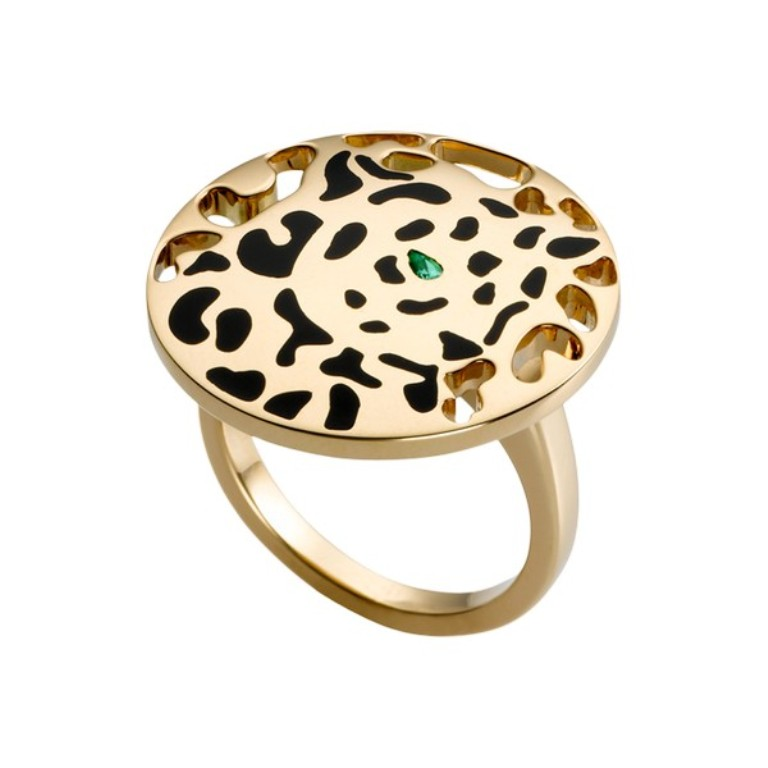 Cartier-Panthère-ring-in-yellow-gold-tsavorite-lacquer-5800 Tsavorite as a Strong Competitor to Emerald