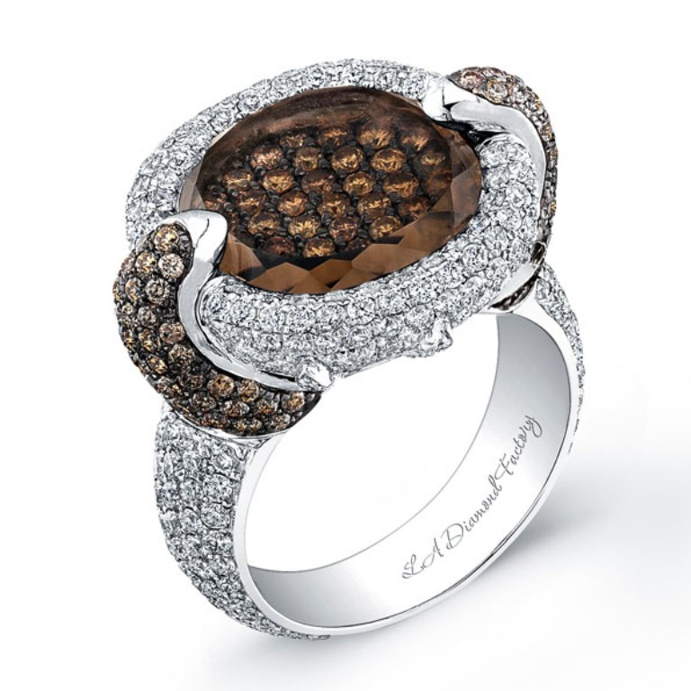 Choc_diamonds_Large Chocolate Diamond Rings for a Fascinating & Unique Look
