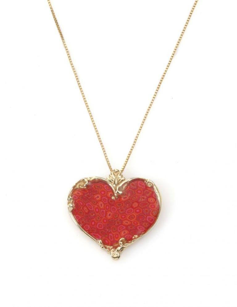 Coral-Small-Heart-Necklace Coral Jewelry as a Magnificent Type of Jewelry from the Sea