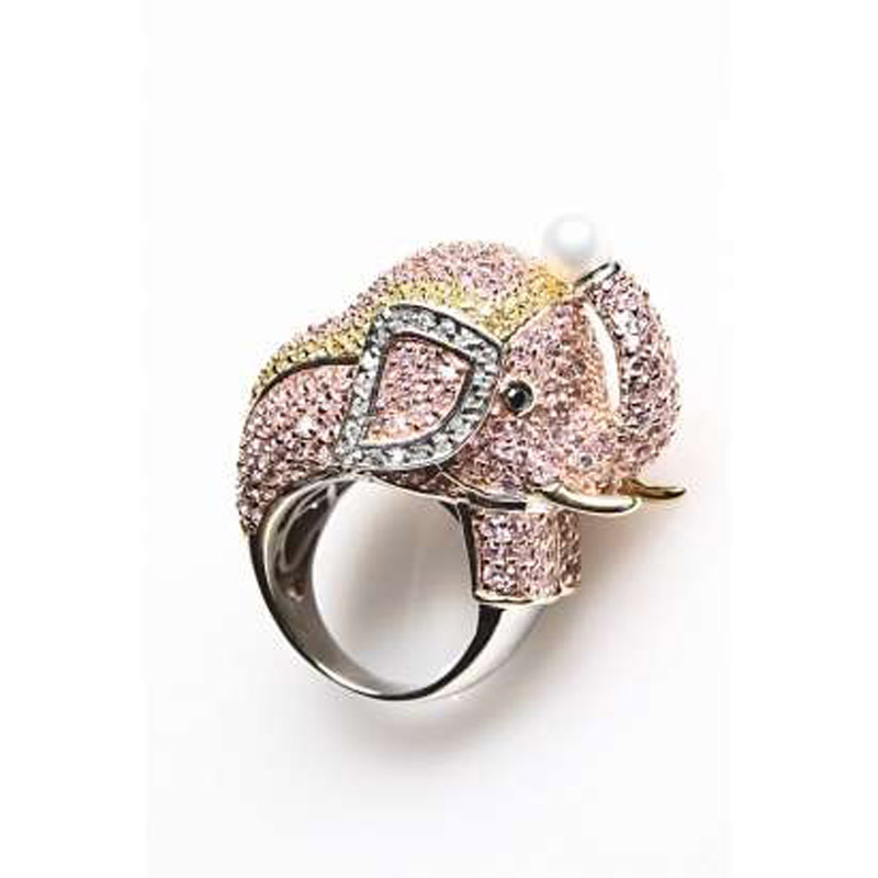 Creative-luxury-rings-from-noir-jewelry-in-elephant-style 69 Dress Jewelry Pieces in the Shape of Your Favorite Animal