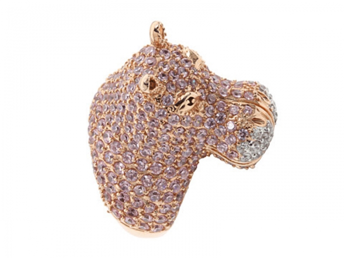 Creative-luxury-rings-from-noir-jewelry-in-hippopotamus-head-style 69 Dress Jewelry Pieces in the Shape of Your Favorite Animal
