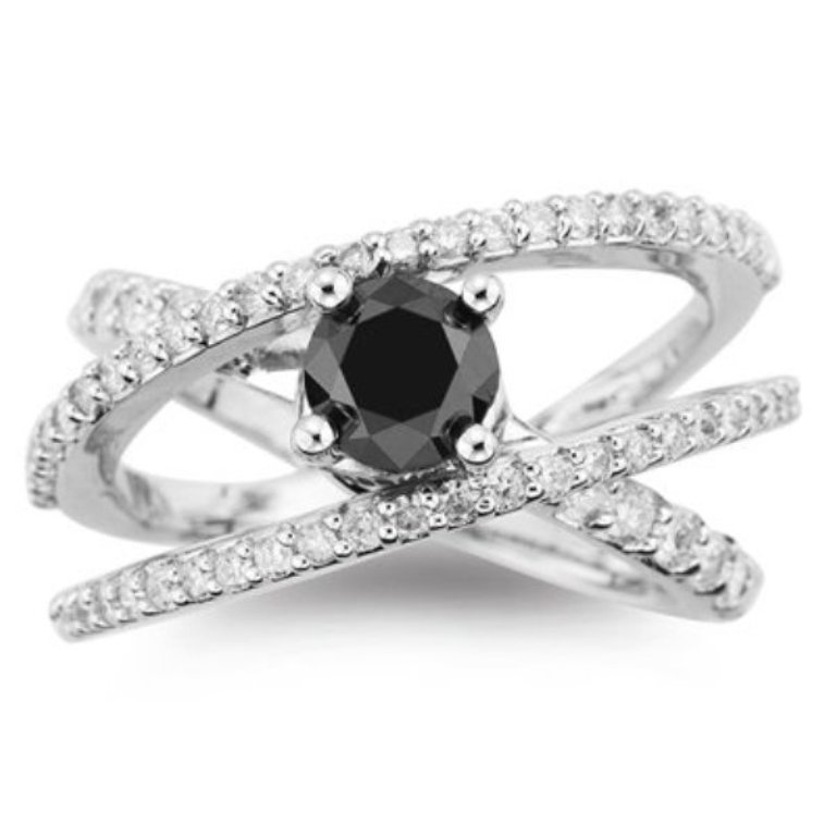 Deluxe-Womens-Black-Diamond-Wedding-Rings Easy Tricks to Make Your Diamond Look Larger