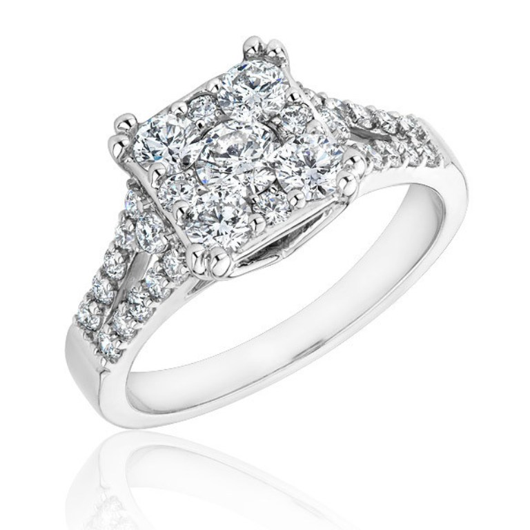 Diamond-Cluster-Engagement-Rings-3 Cluster Engagement Rings for Those who Are on a Budget