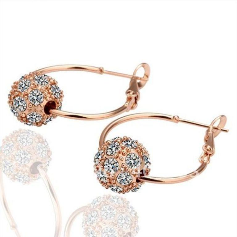 E009-new-fashion-18k-gold-plated-body-jewelry-cz-crystal-bead-hoop-earrings-brand-new-wholesale How to Buy Jewelry Online without Losing Money