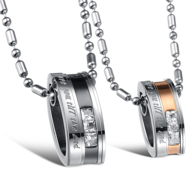 Fashion-Jewelry-Stainless-Steel-Couples-Necklace-Pendant-Set_2967_3 How to Clean Your Stainless Steel Jewelry