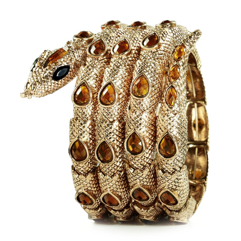 Four_Circles_Coiled_Stretch_Snake_Bracelet_Gold 69 Dress Jewelry Pieces in the Shape of Your Favorite Animal