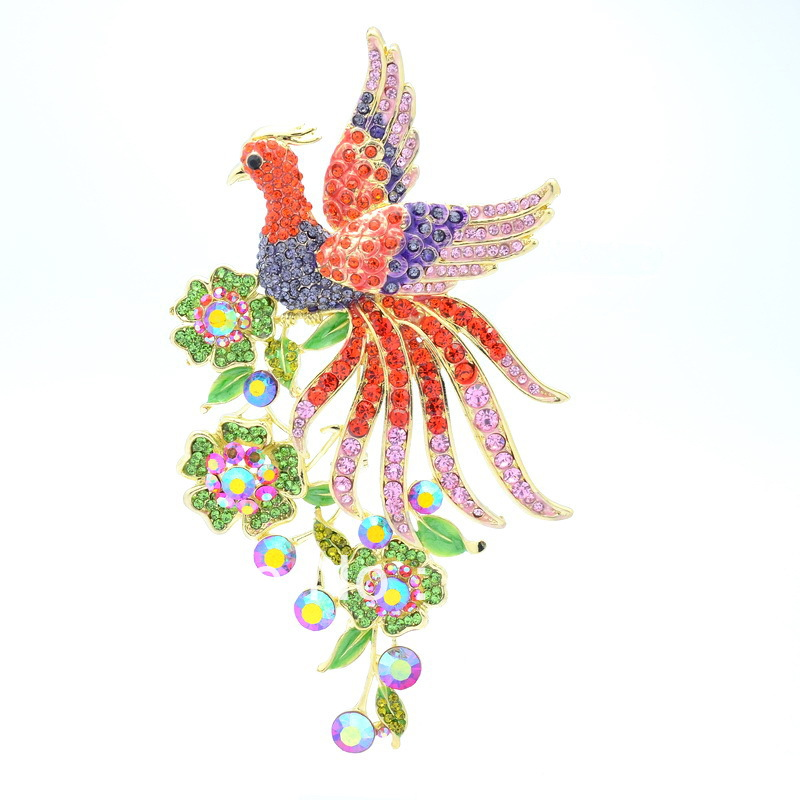Free-shipping-Seperwar-Vogue-Animal-Bird-Peacock-Brooch-Pin-Rhinestone-Crystal-5-4-OFA-1756 69 Dress Jewelry Pieces in the Shape of Your Favorite Animal