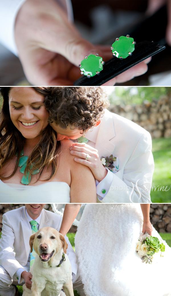 Green-Mint-Cufflinks-Real-Wedding-Bridal-Groom-Bride-Jewelry-Fashion-Designer-Kendra-Scott Cufflinks: The Most Favorite Men Jewelry