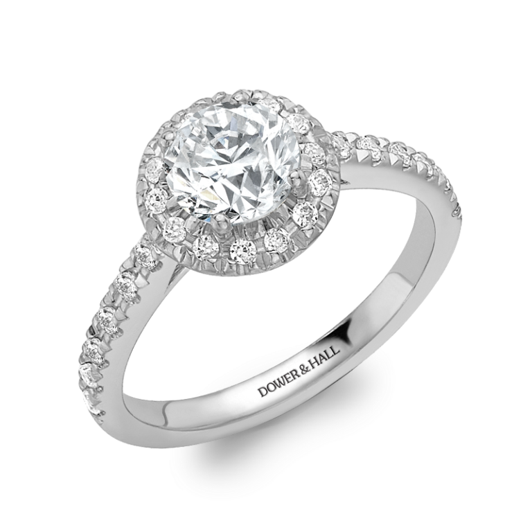 HaloA Cluster Engagement Rings for Those who Are on a Budget