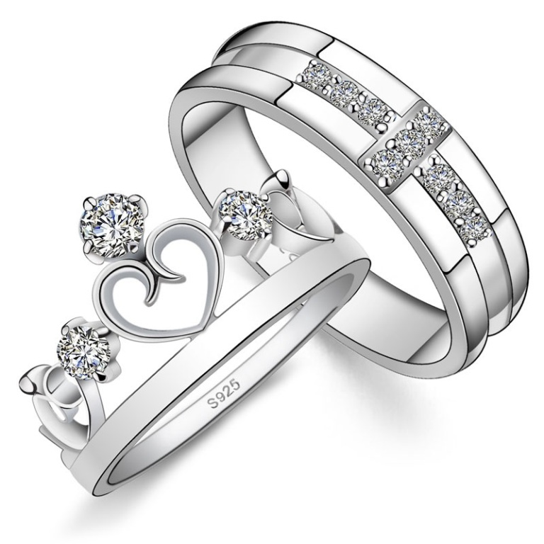His-Hers-Matching-Couple-Sterling-Silver-Engagement-Rings-Bands-Set_7476_1 Easy Tricks to Make Your Diamond Look Larger