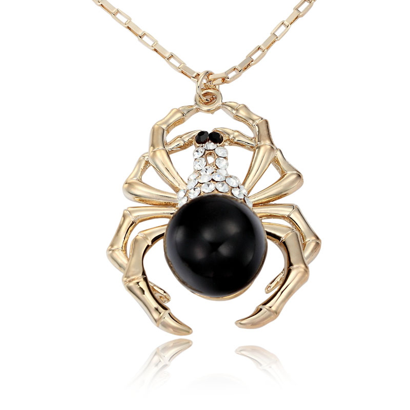 Jet_Bead_Spider_Necklace 69 Dress Jewelry Pieces in the Shape of Your Favorite Animal