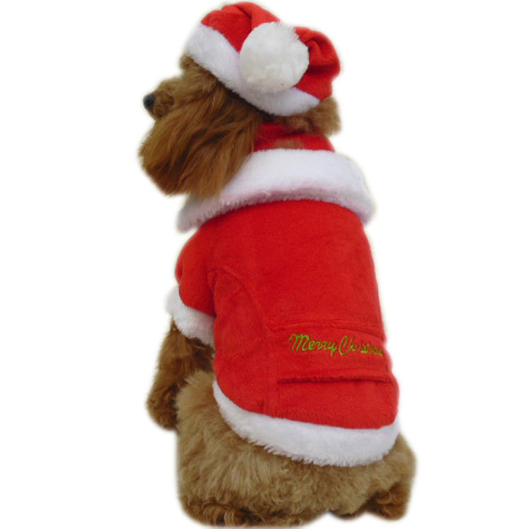 K2011-Christmas-gift-pet-clothes-dog-clothes-sweater-Winter-Coat-triangle-set-hat-scarf-Red-XS Top 35 Winter Clothes for Dogs
