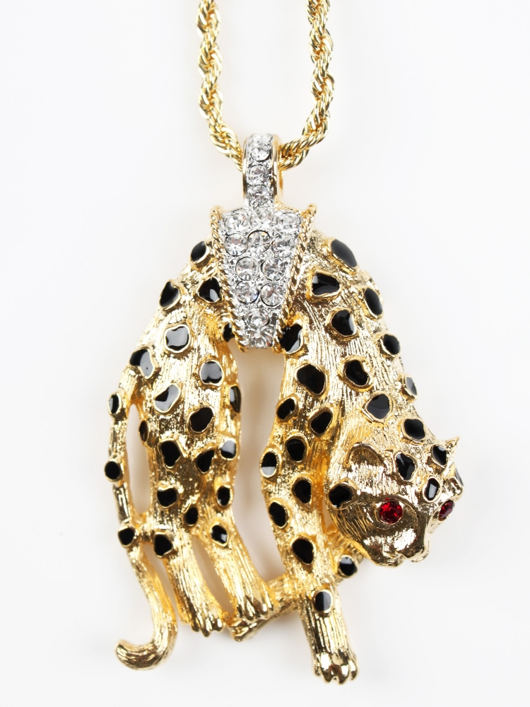 KJL10008_c1_Kenneth-Jay-Lane_Two-Tone-Panther-Pendant_1-750x1000 69 Dress Jewelry Pieces in the Shape of Your Favorite Animal