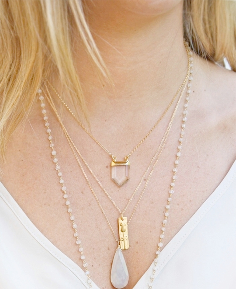 Layered-necklaces Look Fashionable by Layering Your Jewelry