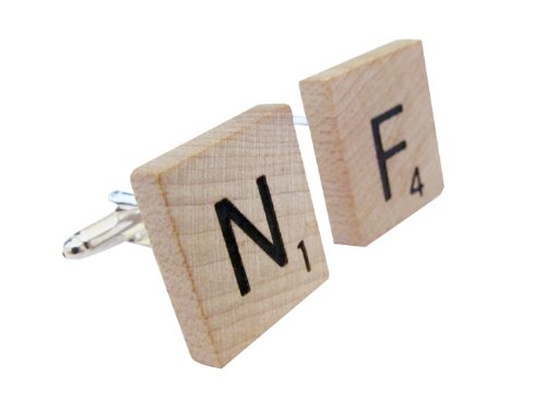 Mens-Upcycled-Scrabble-Tile-Cufflinks-Cuff-Links-Jewelry-0 Cufflinks: The Most Favorite Men Jewelry