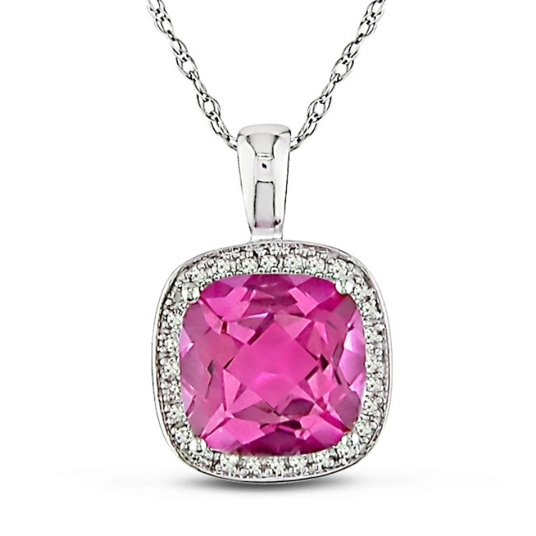 Miadora-10k-Gold-Pink-Topaz-and-1-10ct-TDW-Diamond-Necklace-L11277165a Pink Topaz Jewelry as a Romantic Gift