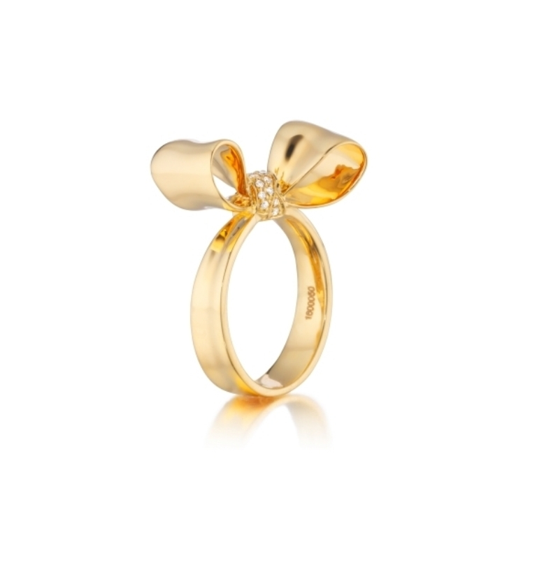 Mimi-So-Yellow-Gold-Bow-Ring-Gold-Diamond-designer-jewelry White & Yellow Gold, Which One Is the Best?