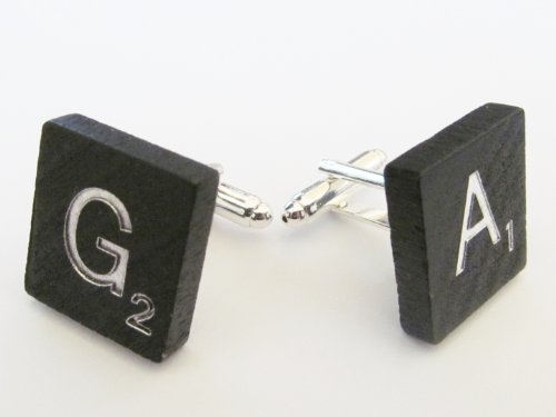 PAIR-of-Mens-Upcycled-Black-Scrabble-Cufflinks-Cuff-Links-Jewelry-1 Cufflinks: The Most Favorite Men Jewelry