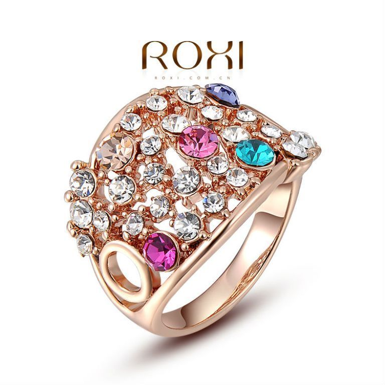 ROXI-Christmas-Gift-Classic-Genuine-Austrian-Crystals-Sample-Sales-Rose-Gold-Plated-Colorful-Bridal-font-b How to Clean Green Gunk from Your Costume Jewelry