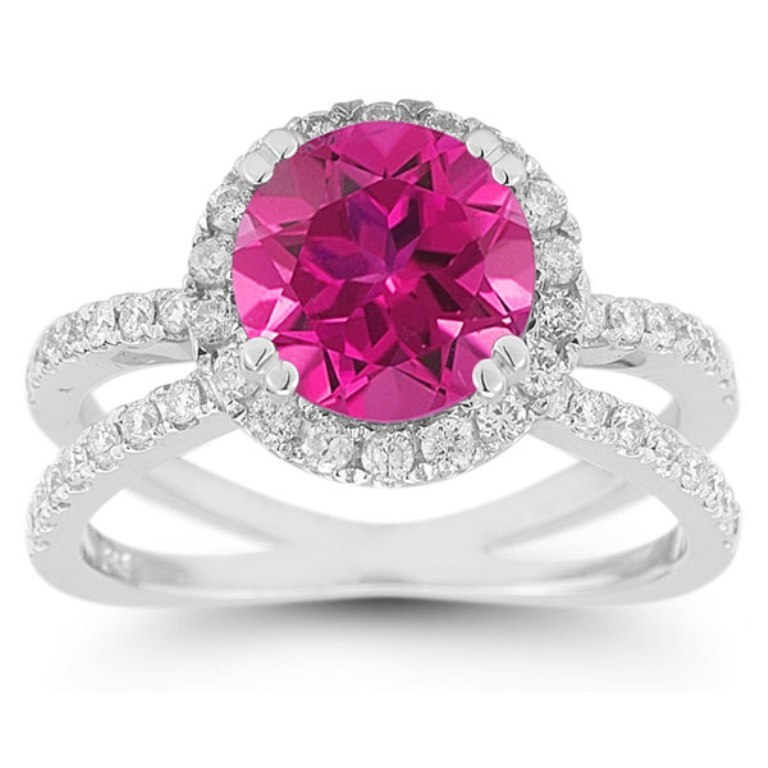 RXP-11R-1582PTZ Pink Topaz Jewelry as a Romantic Gift