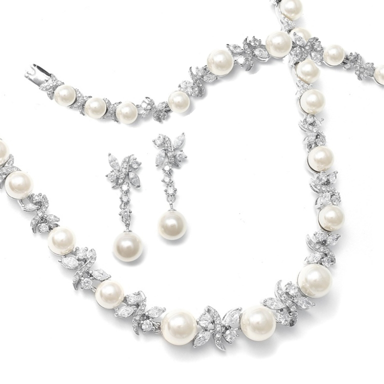 Raquel-Pearl-and-CZ-Bridal-Jewelry-Set How to Choose Bridal Jewelry for Enhancing Your Beauty