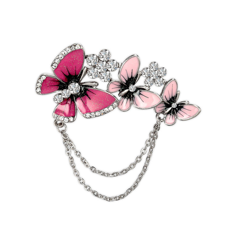 Rhinestone-Flower-Enamel-Butterfly-Brooch-Pin-Silver-Pink-01__50624_zoom Complete Your Look and Prove Yourself with Brooches and Pins